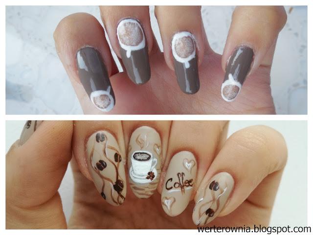 przed i po - malowanie paznokci