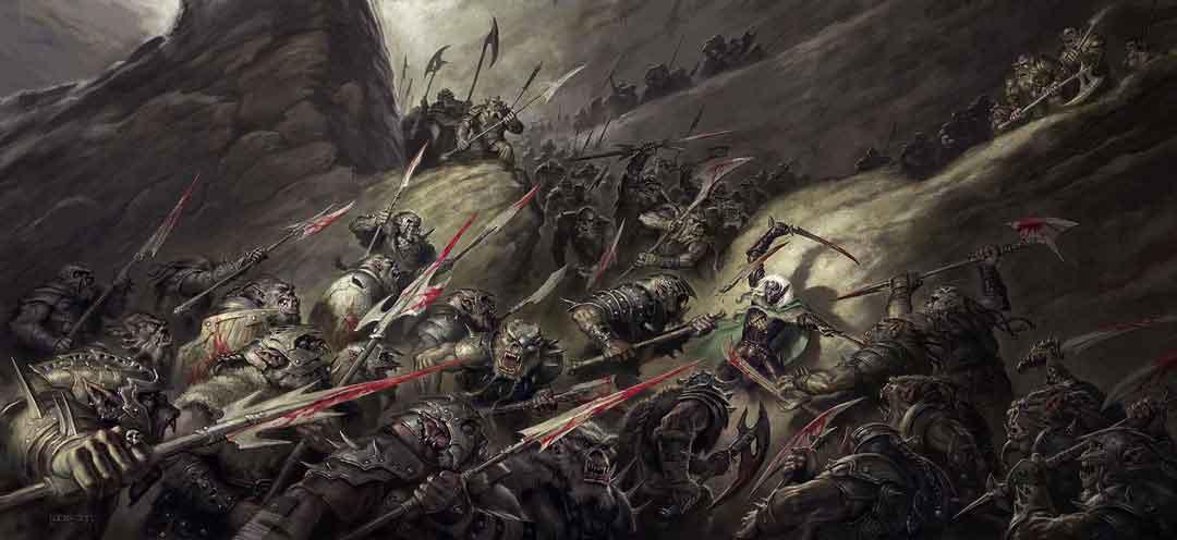 Cómo ajustar un encuentro en Dungeons & Dragons - Hordas Aullantes de Orcos