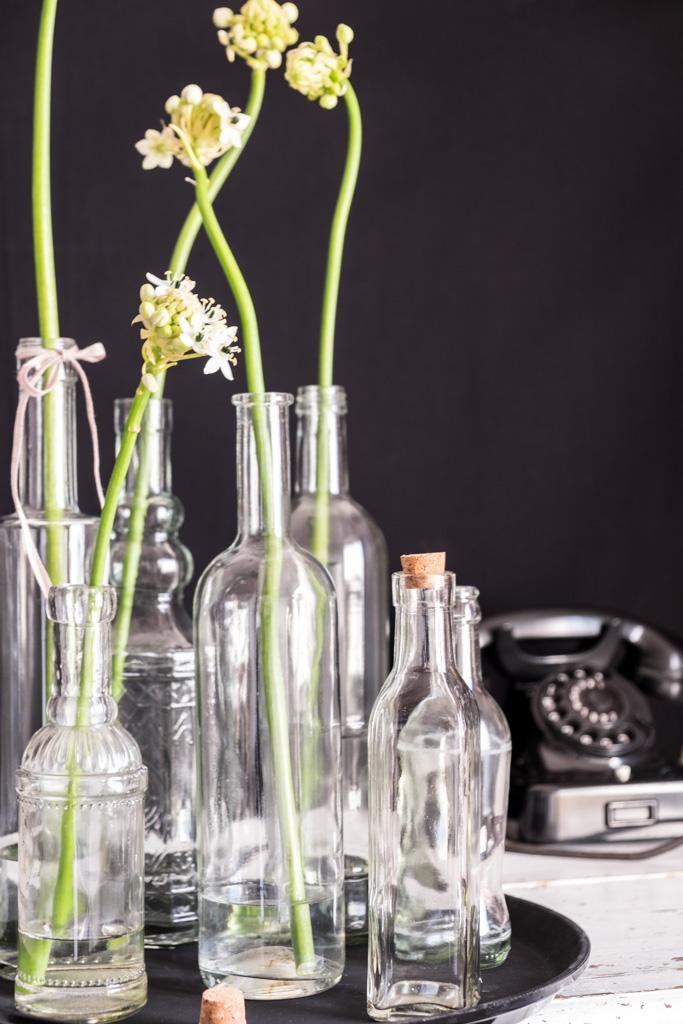 www.fim.works | Lifestyle Blog | weißer Milchstern, Gärtnerschreck in Weiß, altes Telefon mit Wählscheibe, Bakelittelefon