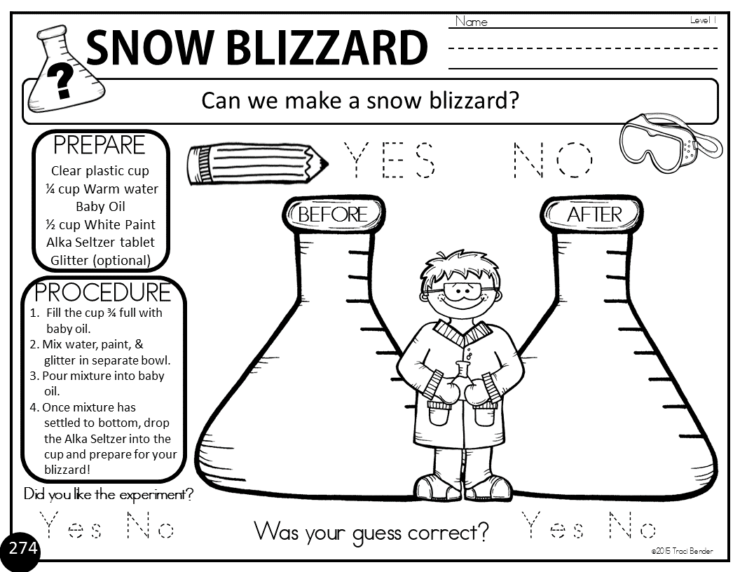 The Bender Bunch Easy Snow Blizzard Science Experiment