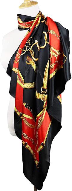 Popular Designer Silk Satin Scarves