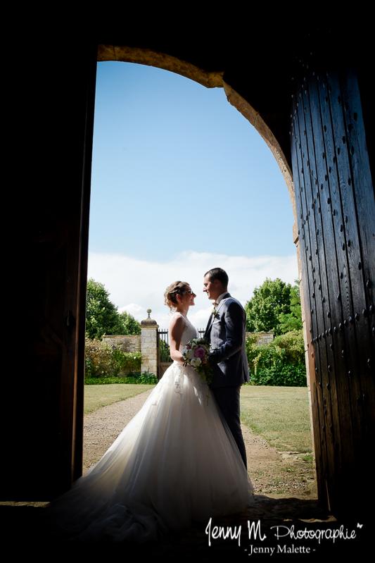 portrait couple mariés photo mariage logis de chaligny ste pexine