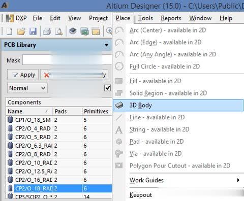 Hướng dẫn thêm thư viện 3D trong Altium Designer 1