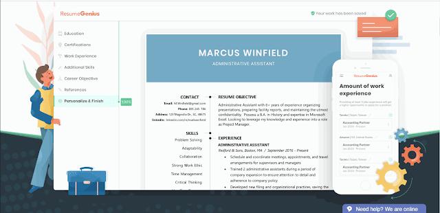 Cara Membuat CV Online dengan ResumeGenius