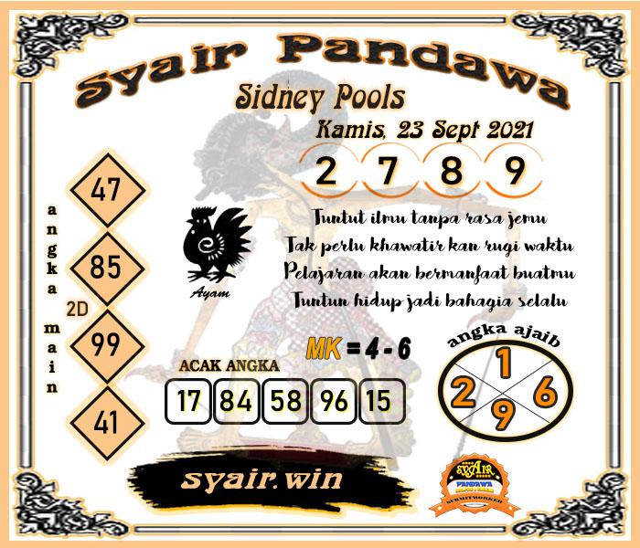 Syair Pandawa Sydney Kamis 23 September 2021