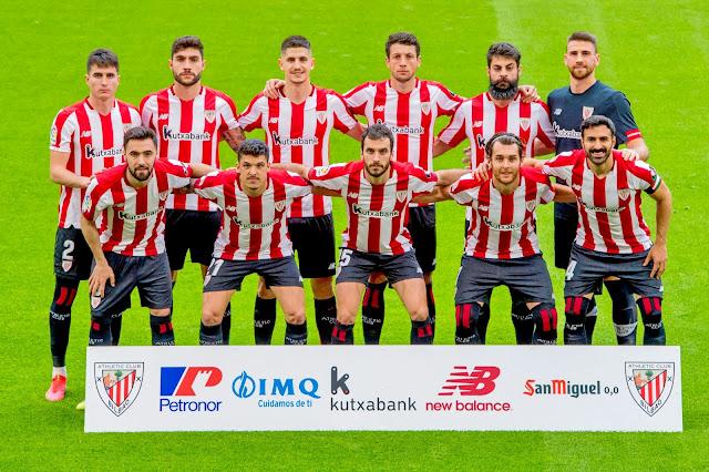 ATHLETIC CLUB. Temporada 2020-21. Morcillo, Unai Núñez, Sancet, Mikel Vesga, Villalibre, Unai Simón. Unai López, Ander Capa, Lekue, Ibai Gómez y Balenziaga. ATHLETIC CLUB DE BILBAO 0 DEPORTIVO ALAVÉS 0. 10/04/2021. Campeonato de Liga de 1ª División, jornada 30. Bilbao, Vizcaya, estadio de San Mamés. GOLES: no hubo.