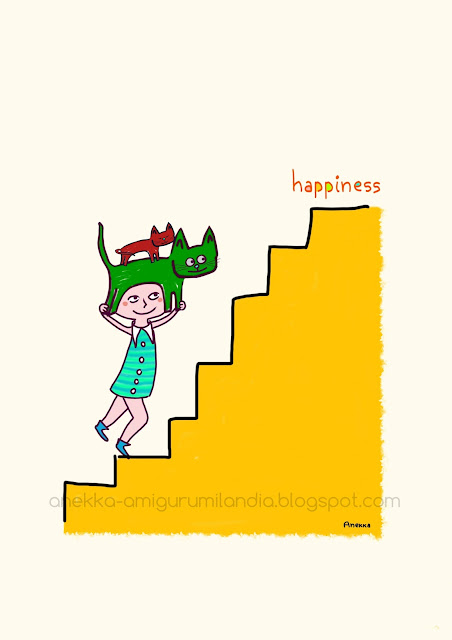 happines and cats illustration