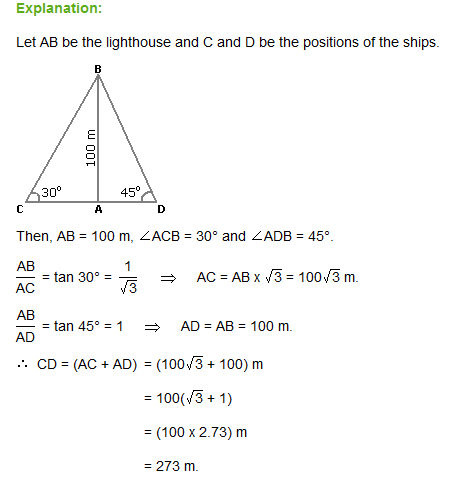 Aptitude question for Height and Distance