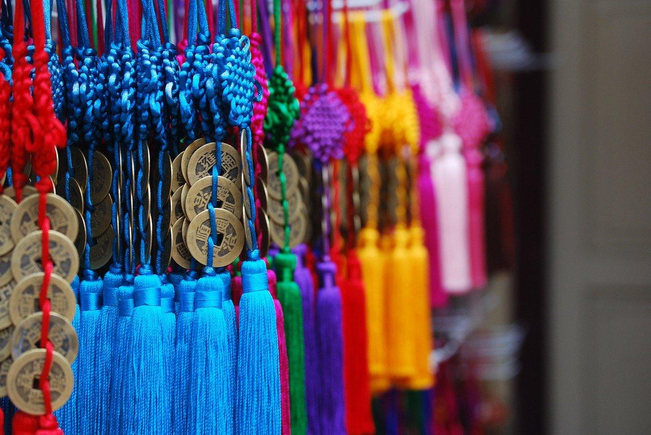 moedas chinesas da sorte