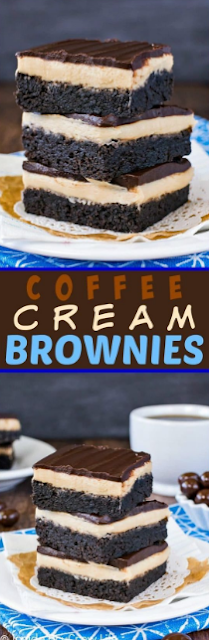 Coffee Cream Brownies