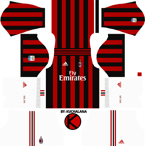 99c43cba2 AC Milan Kits 2017 2018 - Dream League Soccer - Kuchalana