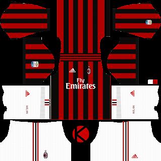 AC Milan Kits 2017/2018 - Dream League Soccer