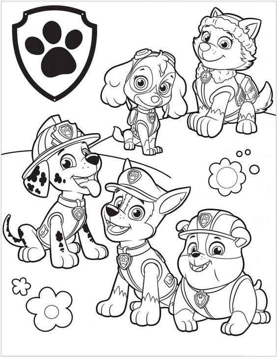 Paw patrol coloring pages 39