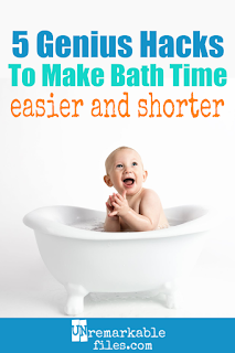 If the way everybody else seems to do bath time for baby, toddler, and kids seems like it takes way too much time and energy, you're right! Keep reading for 5 bath time hacks from bath toys to bath routines that will simplify bath time at your house. #parentinghacks #kids