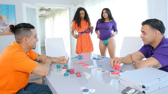 Demi Sutra And Julz Gotti Strip Poker And Stroke Her