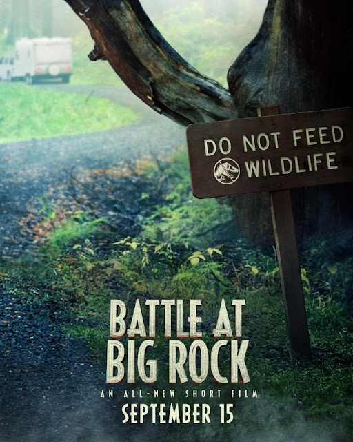 Póster de Battle At Big Rock, el corto del mundo Jurassic World