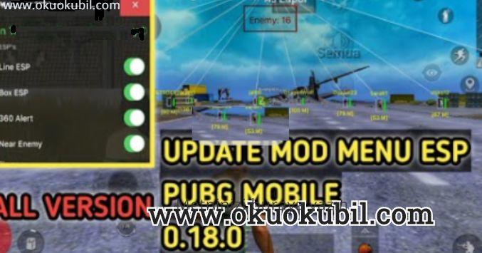 Pubg Mobile 0.18.0 Terbaru Mod ESP Menu Hilesi Mayıs 2020 Telefon