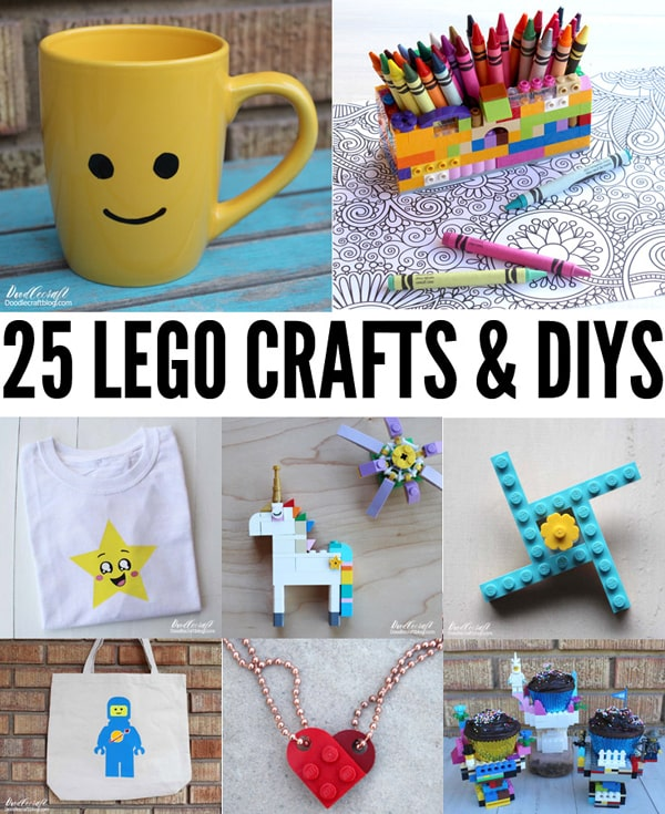 25 Amazing Lego Crafts DIY's Roundup! We are big fans of Lego and love it for building, creating, imagination play and crafting. That's right, craft with your lego pieces! Here's 25 awesome ideas.