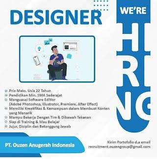 Designer di PT Ouzen Anugerah Indonesia