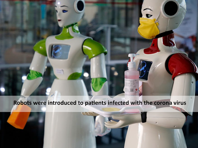 Robots were introduced to patients infected with the corona virus