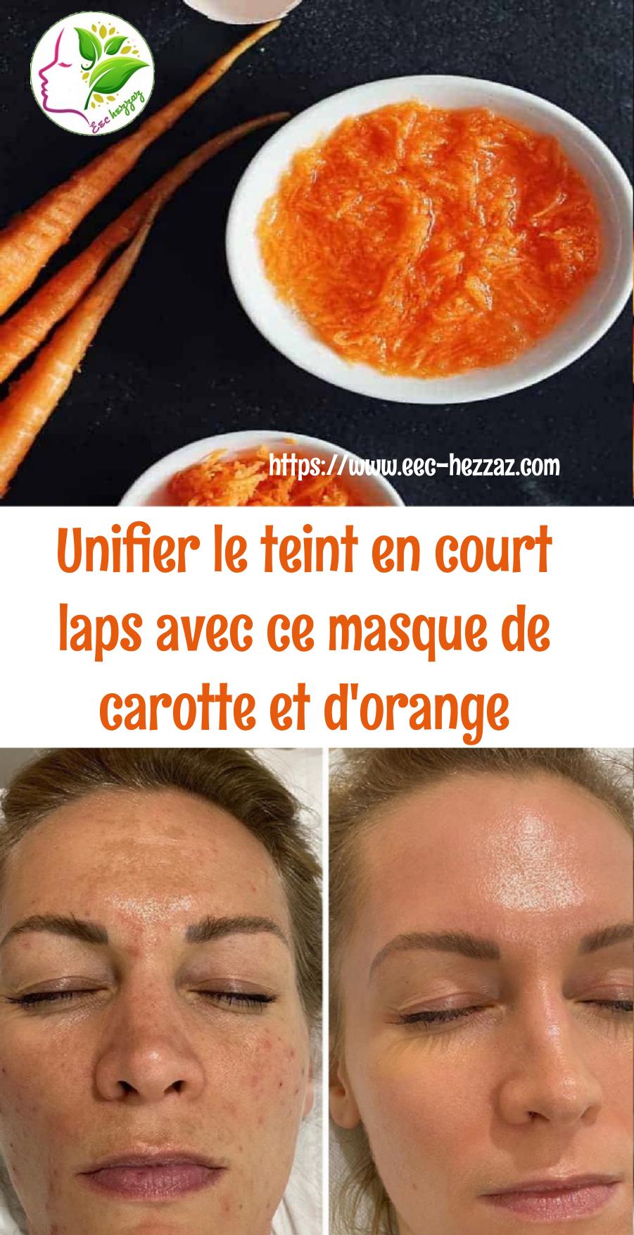 Unifier le teint en court laps avec ce masque de carotte et d'orange