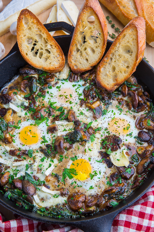 Mushroom and Brie Baked Eggs