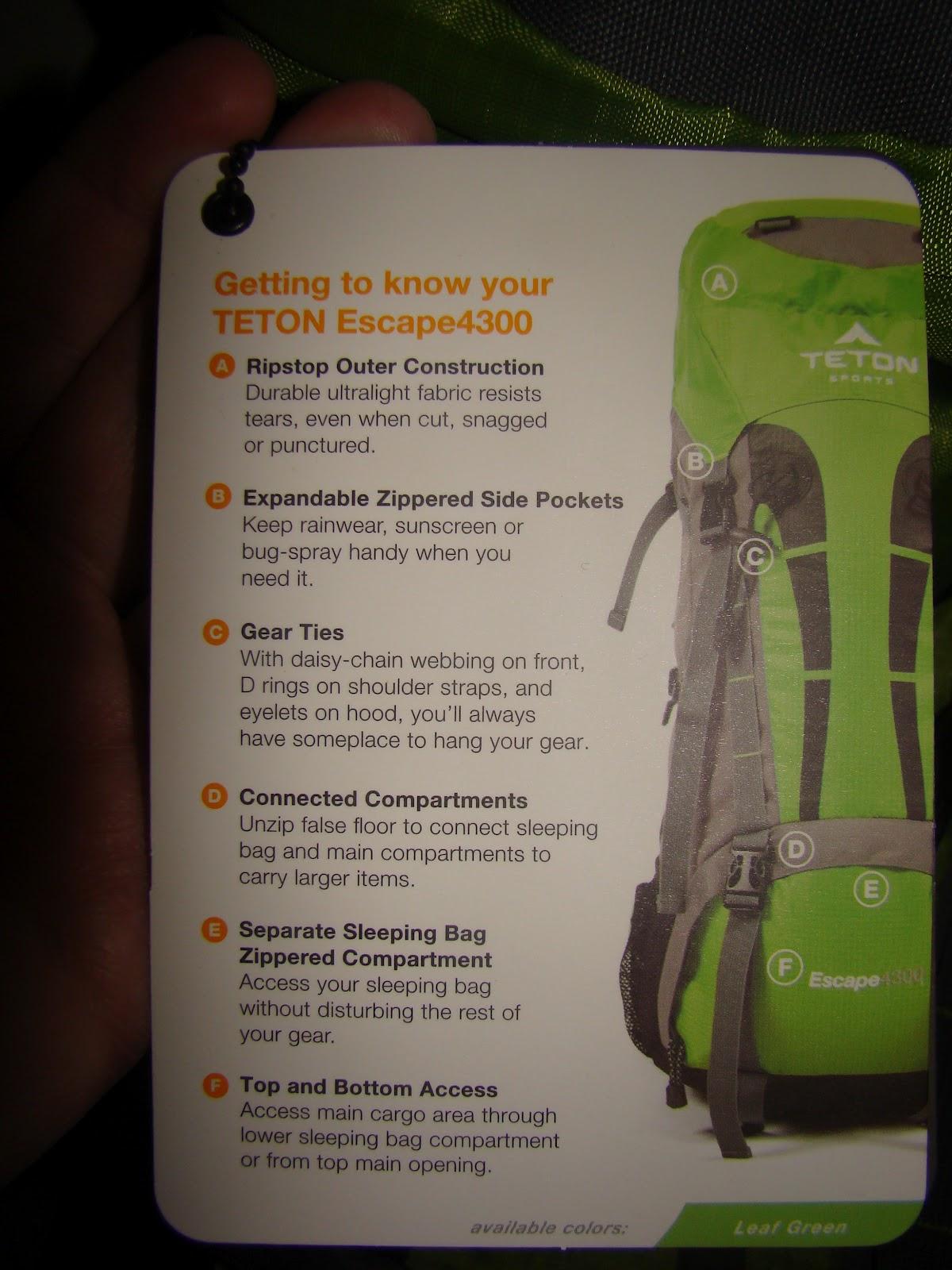 Teton Sports Escape 4300 Ultralight Internal Frame Backpack Review ... 4a2e9dddde844