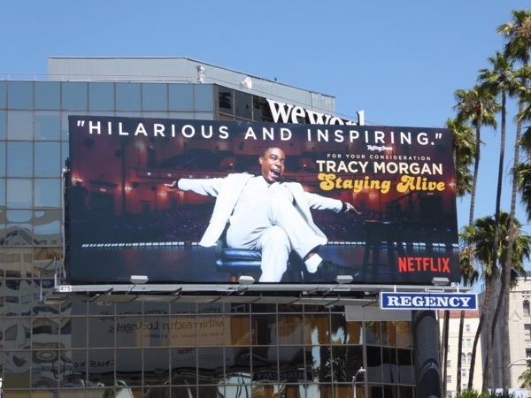 Tracy Morgan Staying Alive Emmy FYC billboard