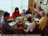 Contoh Doa Makan Kristen yang diungkapkan penuh rasa Syukur kepada Tuhan