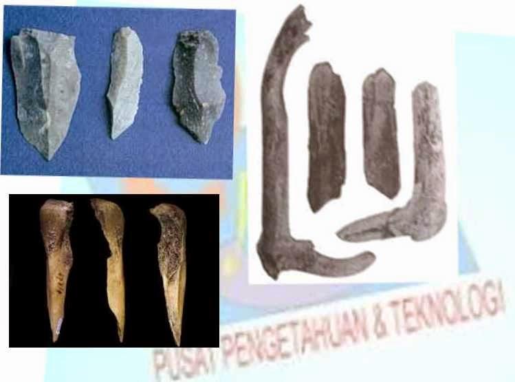 Alat  Serpih  batu dan tulang