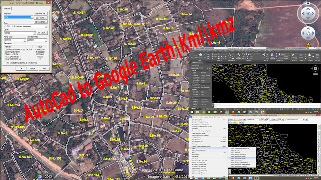 AutoCad to Google Earth | Kml | kmz
