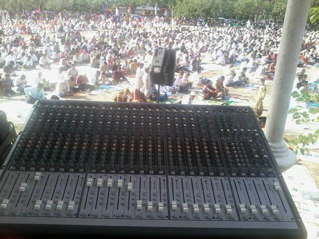 Sound System Lapangan untuk Sholat Ied