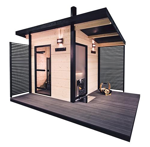 un sauna d 39 ext rieur tr s design. Black Bedroom Furniture Sets. Home Design Ideas