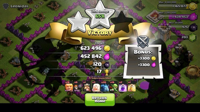Tiga bintang clash of clans