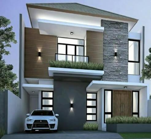 Desain Rumah Minimalis mewah tampak depan