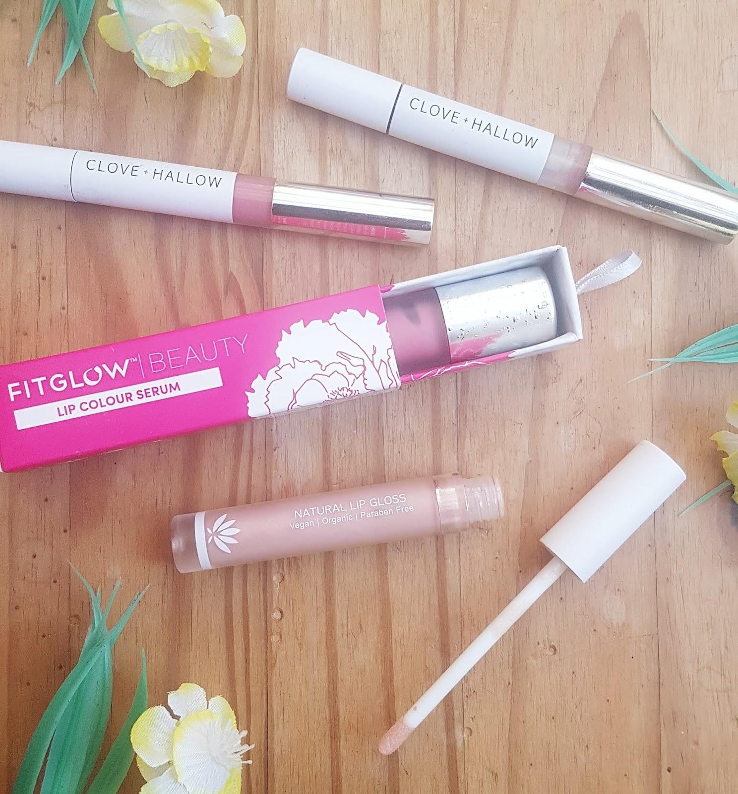 Clove + Hallow lip glaze, Fitglow lip serum, PHB lip gloss - Best Makeup of 2019