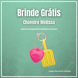 Ganhe 01 Chaveiro Clube Melissa Grátis