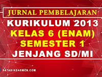 Jurnal Pembelajaran Tematik Kelas 6 Semester 1 SD/MI Kurikulum 2013 Tahun Pelajaran 2020 - 2021