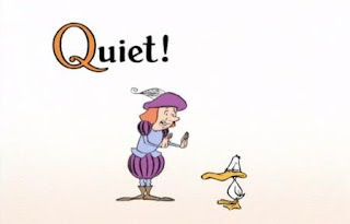 There is a story of Queen Quagmire and a duck in a cartoon. Sesame Street All Star Alphabet