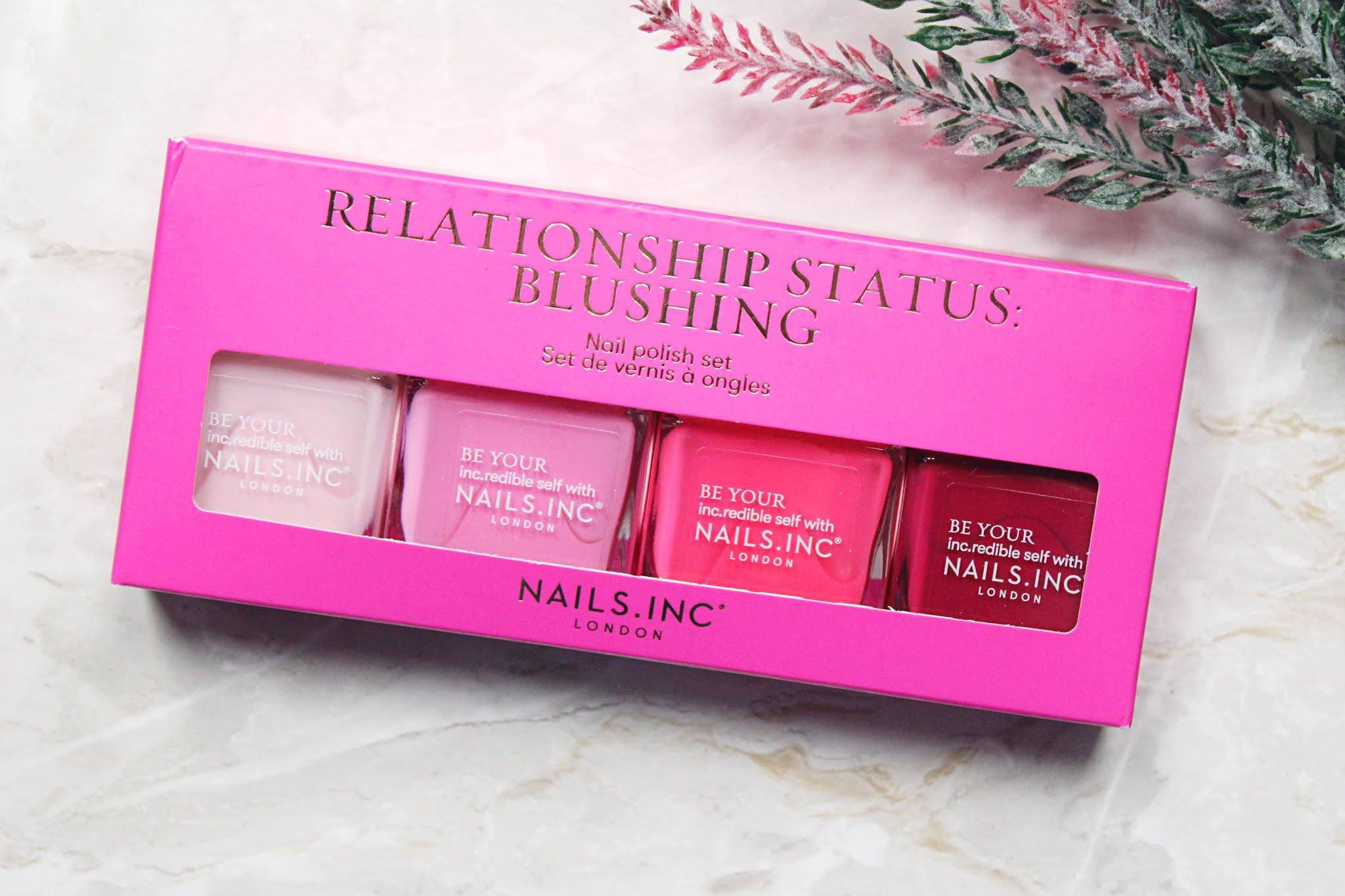 Nails Inc Relationship Status: Blushing Set Review + Swatches