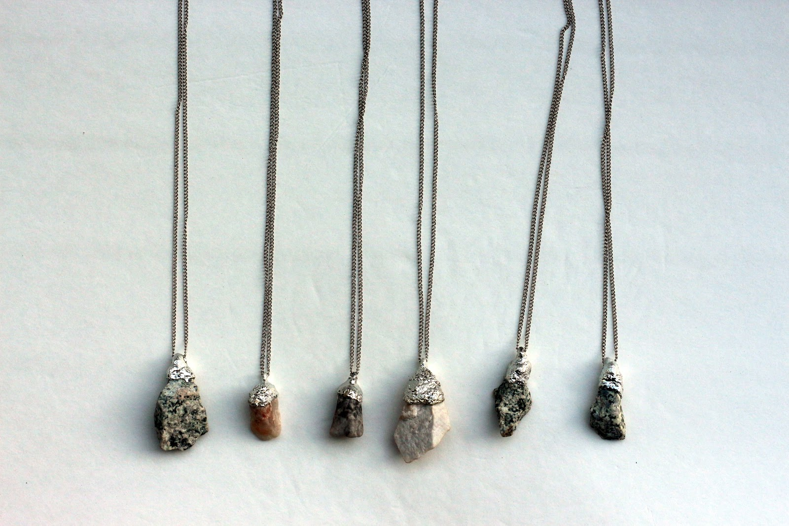 Bromeliad: My DIY raw stone pendants - Fashion and home ...