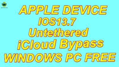 Free Apple Device iOS13 7 Untethered iCloud bypass Fix OTA Update,Erase All Data Setting & Rebot.