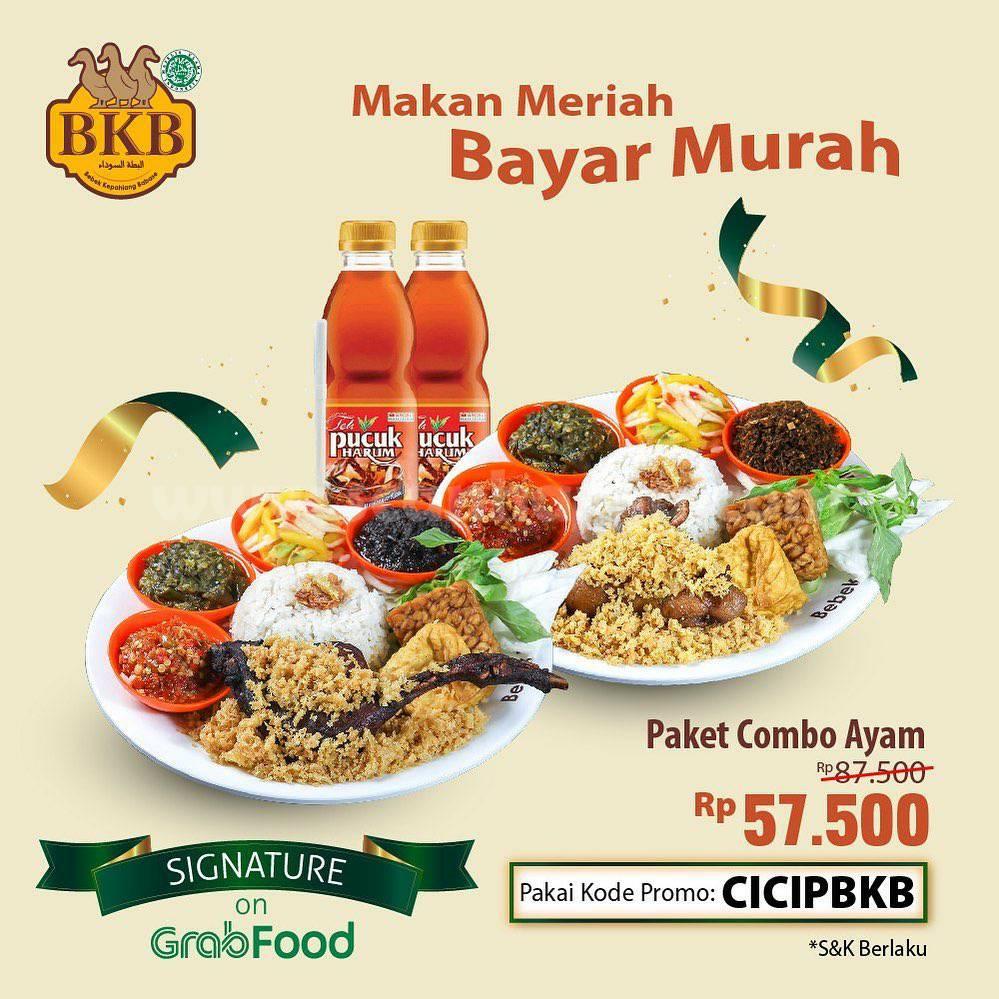 BEBEK BKB Promo MENU SIGNATURE – Paket Combo Ayam Hanya Rp. 57.500 via aplikasi GRABFOOD