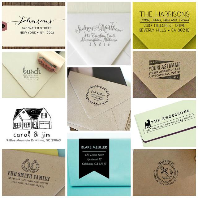 Custom Address Stamps- lemonthistle.blogspot.com