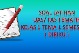 Soal Latihan UAS Tematik Kelas 1 Tema 1 Semester 1/ Ganjil K 13