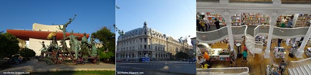 Viaje a Rumanía: Bucarest: teatro, universidad, librería Carturesti Carusel
