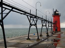 Lighthouse on South Haven, Michigan, Pier
