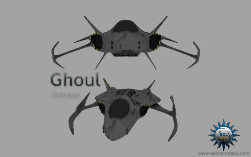 Ghoul fighter 3d model free download light medium cockpit combat warship space ship scifi futuristic original concept art pirate smuggler lawless legend army military interceptor