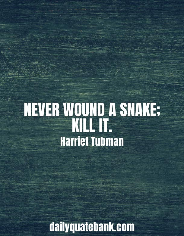 Short Harriet Tubman Quotes On Freedom, Slavery & Change