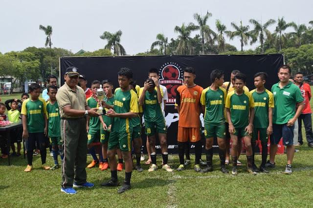 Yonarhanud 1 Kostrad Gelar Turnamen Sepakbola Dalam Rangka HUT ke-72  Arhanud